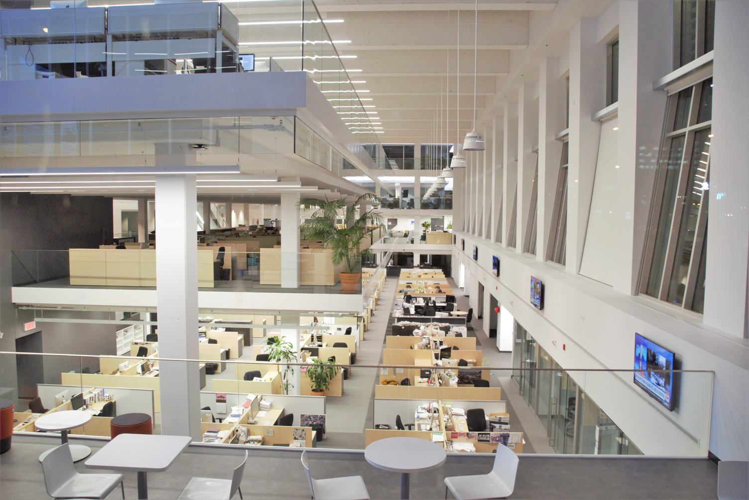 The Interior of a Large Open Space Office