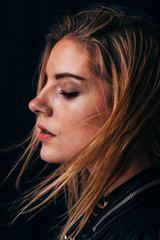 Closeup Side Woman Portrait