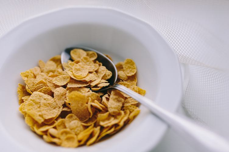 Bowl of Dry Cornflakes