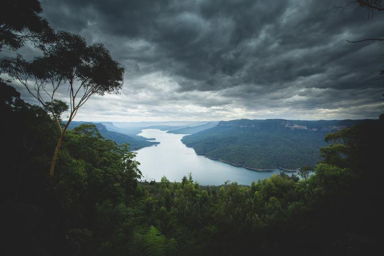 Cloudy Sky over Blue Mountains, Australia