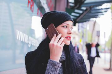 Woman Talking on Her Cellphone