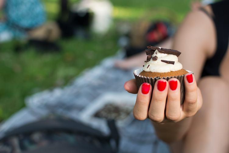 Cupcake in Female Hand