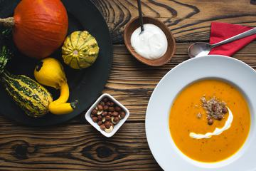 Pumpkin Soup with Hazelnuts