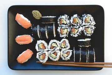 Homemade Salmon Sushi Set
