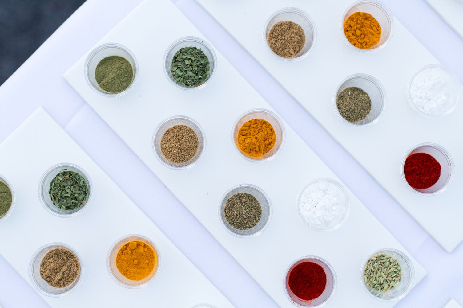 Spices in Small Containers