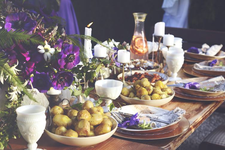 Table Served for a Banquet
