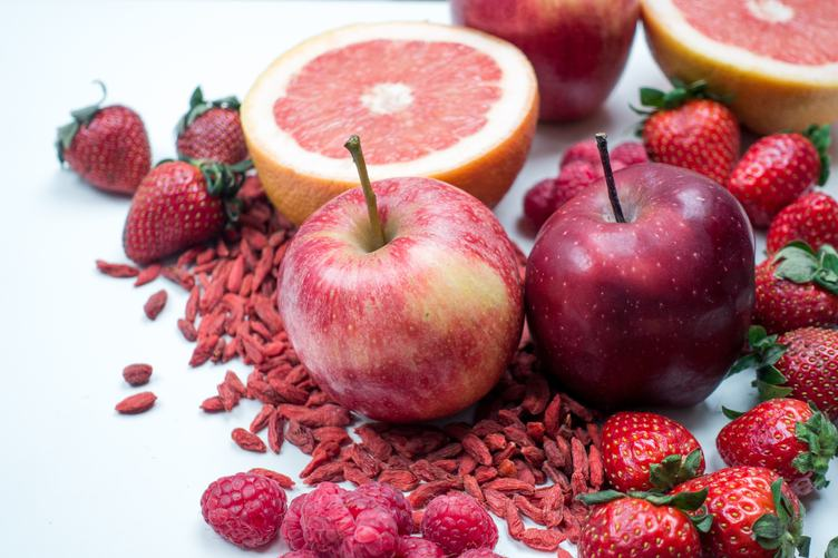 Red Fruits Background