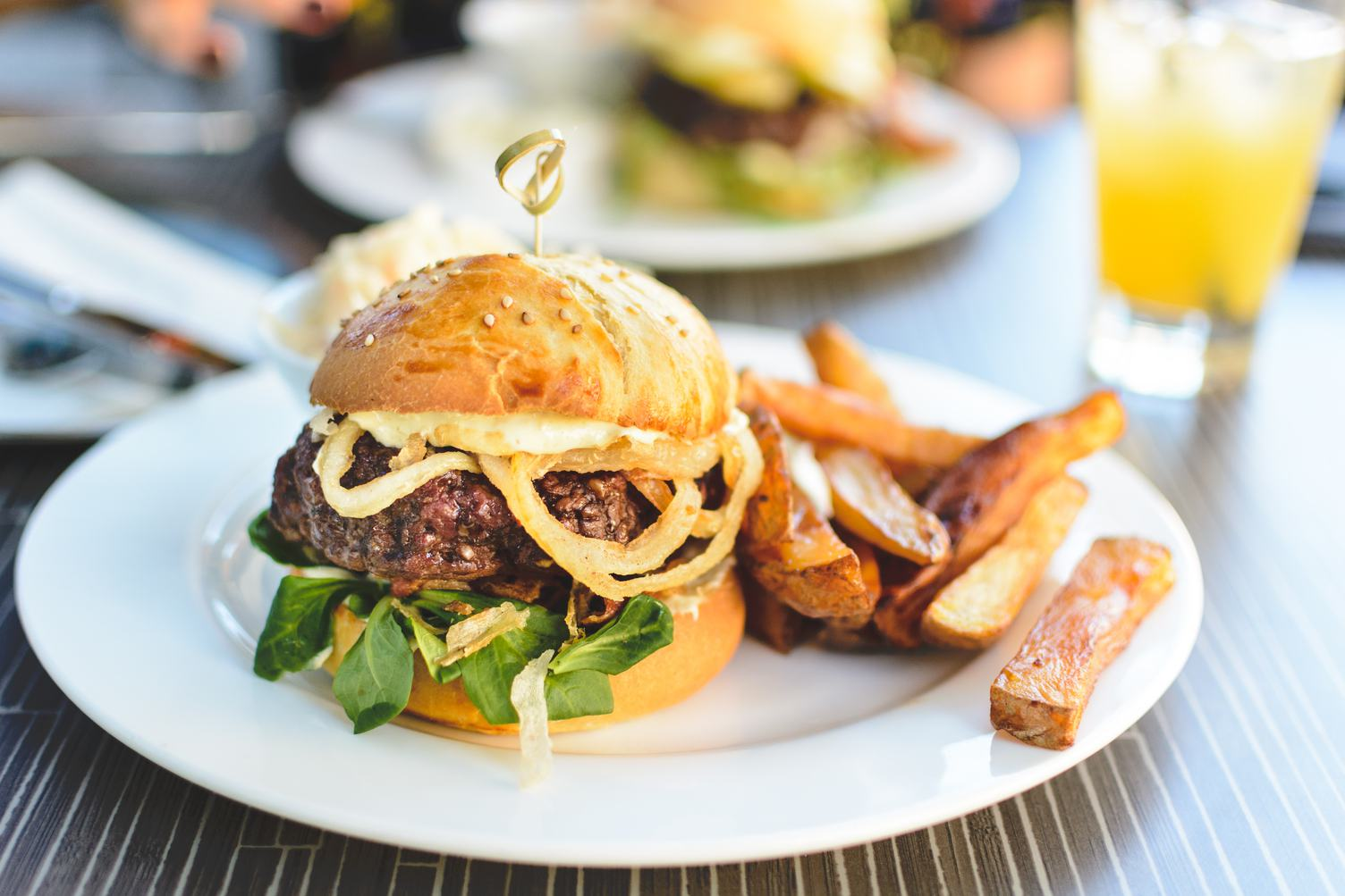 Little Burger with French Fries