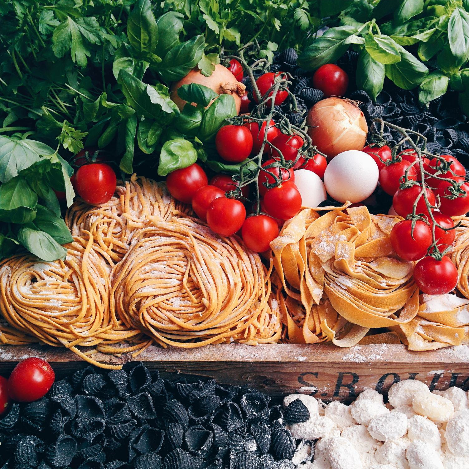 Italian Pasta Fresh Ingredients
