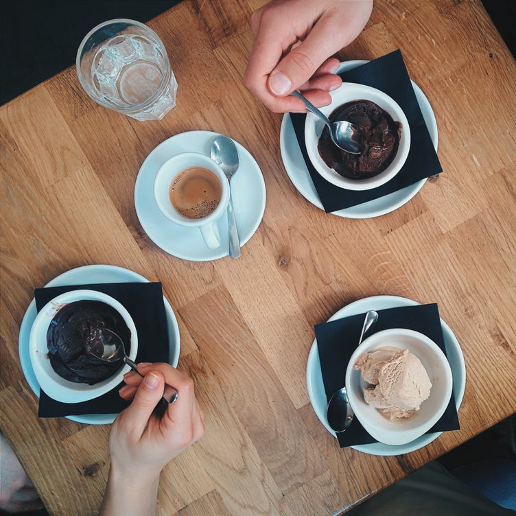 Ice Creams with Espresso