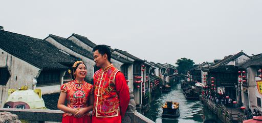 Traditional Chinese Wedding Couple