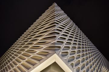 Facade of the Broad Contemporary Art Museum, Los Angeles