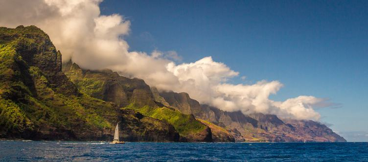 Beautiful View of Na Pali Coast, Kauai, Hawaii