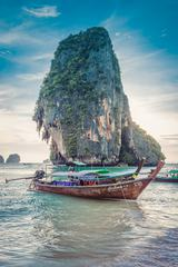 Long-Tail Boat at Ao Phra Nang Beach, Thailand