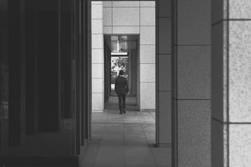 Back View of Man Walking