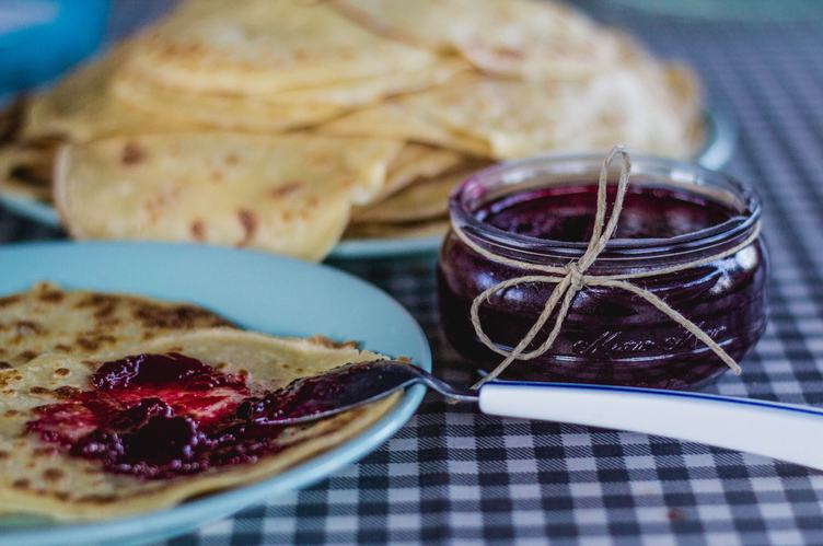Traditional Pancakes with Jam