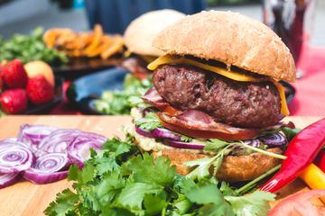 Closeup of a Fresh Homemade Burger