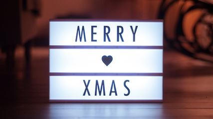 Christmas Glowing Inscription