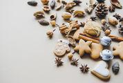 Christmas Composition Cookies, Pinecone, Cinnamon Sticks, Anise Stars