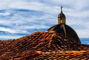 Roofs in Town of Barichara, Colombia