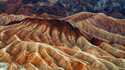 Zabriskie Point in Death Valley National Park, California, USA
