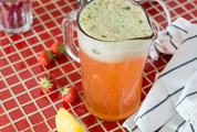 Jug of Homemade Strawberry Lemonade