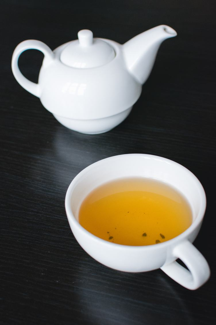 Tea in a White Teapot