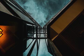 Bottom View of Modern Building