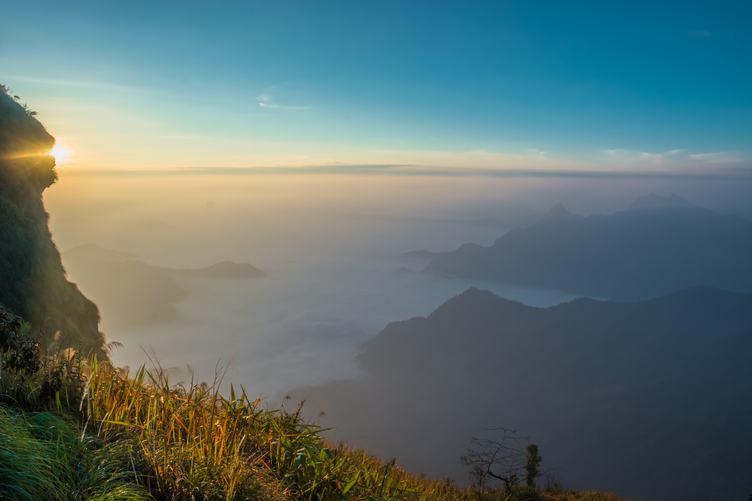 Beautiful Landscape of Phu Chi Fa National Park