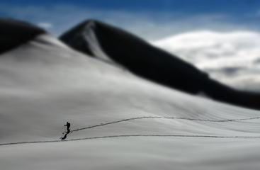 Skiing Man, Tilt Shift Effect