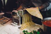 Making Tagliatelle with Pasta Machine