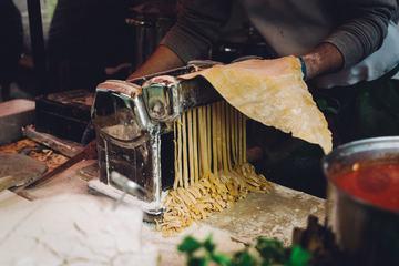 Making Tagliatelle with Pasta Machine