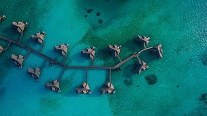 Awesome Maldives Resort Hotel Top View