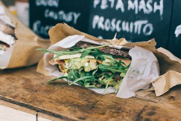 Takeaway Sandwich with Brown Bread and Vegetables