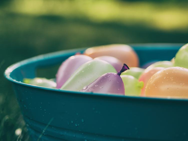 Balloons in a Bowl with Water
