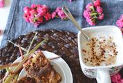 Homemade Rhubarb Cake with Coffee