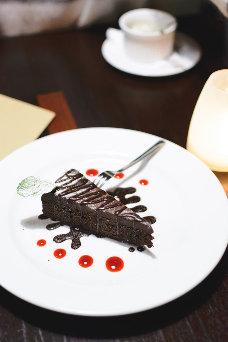 Delicious Chocolate Cake on Plate