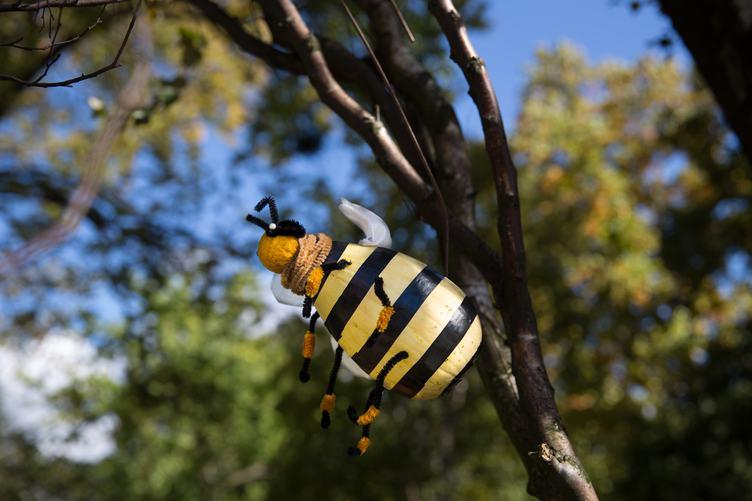 Pumpkin Bee Decoration for Halloween