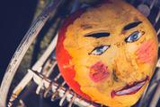 Pumpkin with Human Face