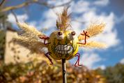 Funny Pumpkin Creature with Wings