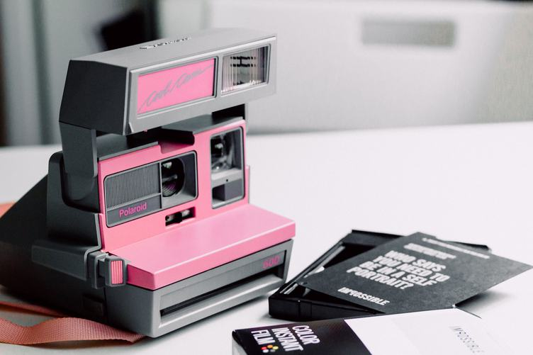 Cool Pink Polaroid Camera