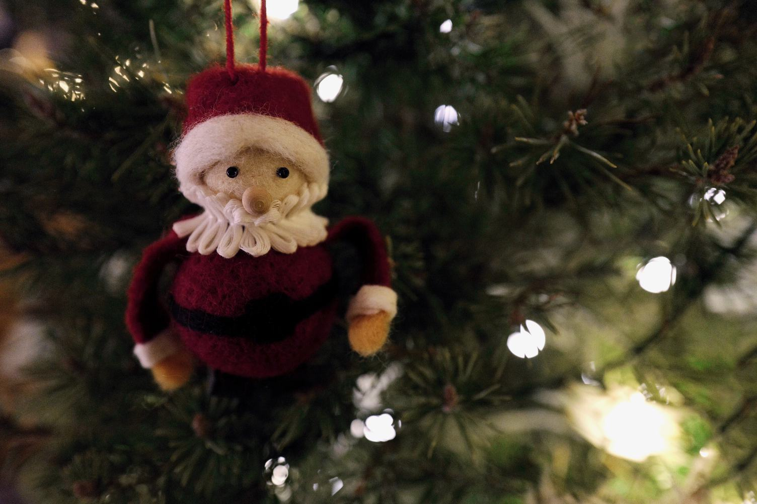 Felt Santa Hanging Christmas Decoration