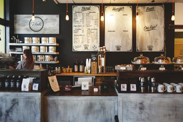 The Blind Tiger Cafe Interior, Daytime