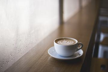 Cup of Cappuccino in a Cafe