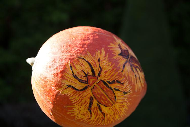 Piece of Art on a Pumpkin