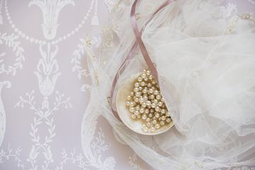 Tulle and Pearls, Light Pink Shades