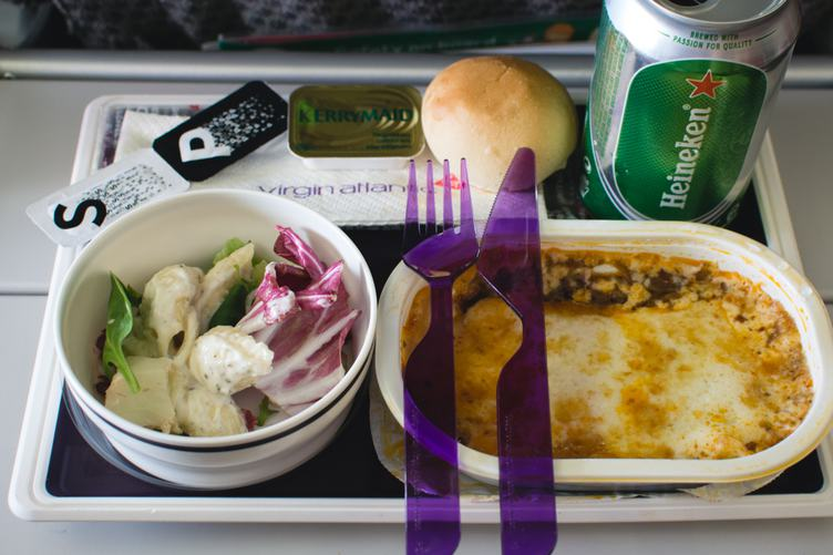 Meal in Airplane