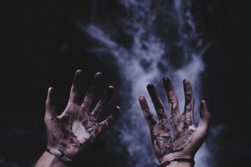 Dirty Hands with Mud