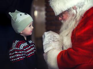 Santa Claus and the Boy