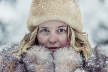 Woman in Winter Warm Clothing
